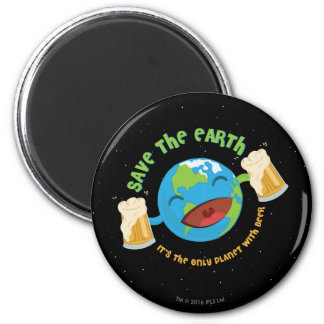 Save The Earth 6 Cm Round Magnet