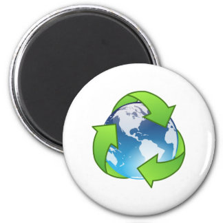 Save the Earth and Recycle Fridge Magnets