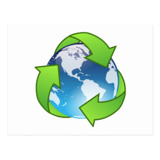 Save the Earth and Recycle Postcard