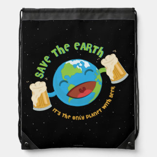 Save The Earth Drawstring Bag