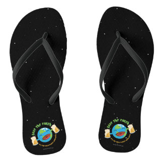 Save The Earth Flip Flops