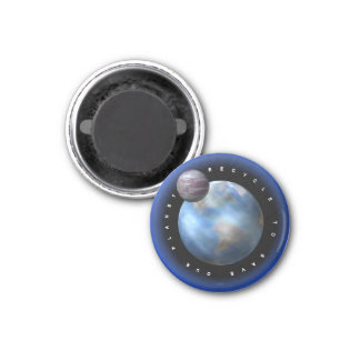 save the earth refrigerator magnet