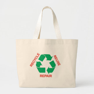 Save the Earth - Recycle, Reuse, Repair Jumbo Tote Bag