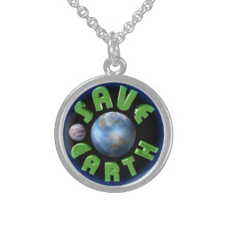 Save the Earth sterling silver necklace by Valxart