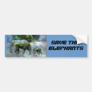 SAVE THE ELEPHANT BUMBER STICKER BUMPER STICKER