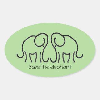 Save The Elephant Custom Slogan Ele Logo Sticker