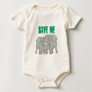 Save the Elephants Baby Bodysuit