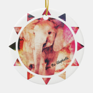 Save the Elephants, Baby Eelephant Sunshine Christmas Ornament