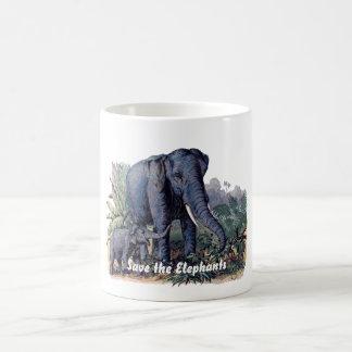 Save the Elephants Basic White Mug