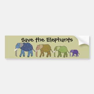 Save the Elephants Bumper Sticker