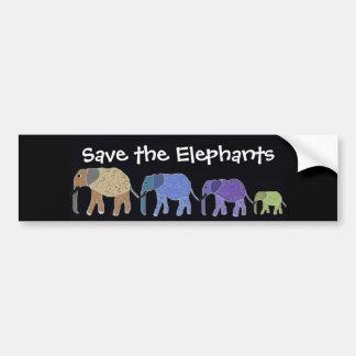 Save the Elephants Bumper Sticker