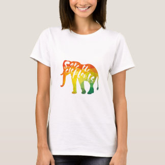Save the Elephants. Calligraphy, Graphical Art T-Shirt