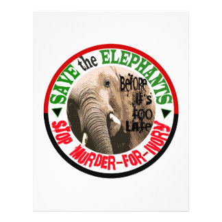 SAVE THE ELEPHANTS 21.5 CM X 28 CM FLYER