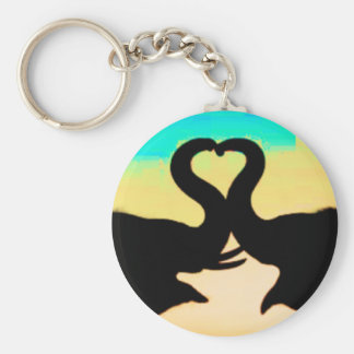 Save the Elephants heart trunks Key Ring