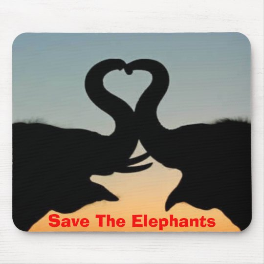 Save The Elephants Mouse Mat