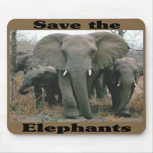 Save the Elephants Mouse Pad