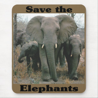 Save the Elephants Mouse Pad