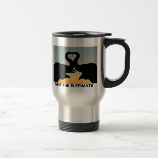SAVE THE ELEPHANTS STAINLESS STEEL TRAVEL MUG