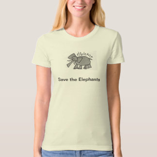 Save the elephants organic cotton ladies t-shirt