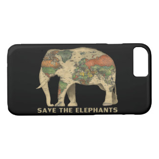 Save the elephants phone case