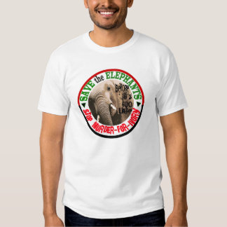 SAVE THE ELEPHANTS SHIRTS