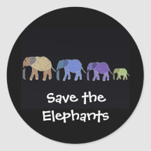 Save the Elephants Stickers