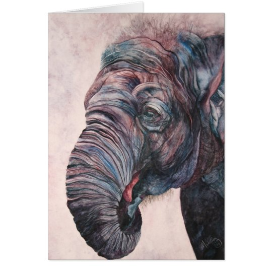Save the Elephants Watercolor Sentimental Cards