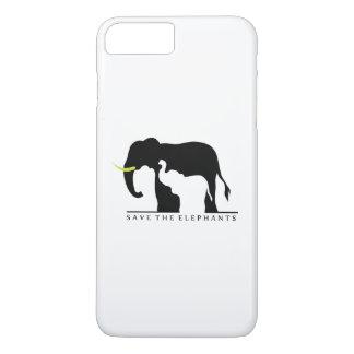 Save the Elephants (white) iPhone 8 Plus/7 Plus Case