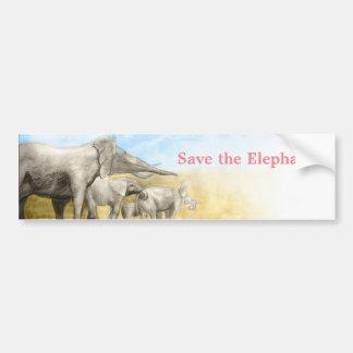 Save the elephants wildlife funds sticker