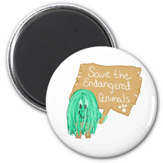 save the endanged animals magnet