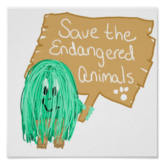 save the endanged animals poster