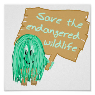 save the endanged wildlife posters
