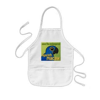 Save the Endangered Hyacinth Macaw Apron