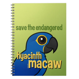 Save the Endangered Hyacinth Macaw Notebooks