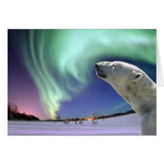 Save the Endangered Polar Bears for Christmas Greeting Card