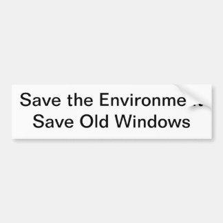 Save the Environment Car Bumper Sticker