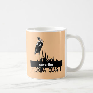 Save the Florida Coast Basic White Mug