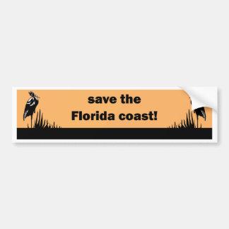 Save the Florida Coast Car Bumper Sticker