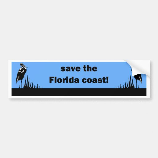 Save the Florida Coast Bumper Sticker