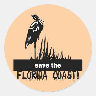 Save the Florida Coast Round Sticker