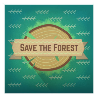 Save the forest poster