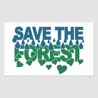 Save The Forest stickers