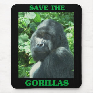 Save the Gorillas Mouse Mat