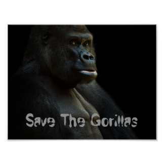 Save The Gorillas Poster