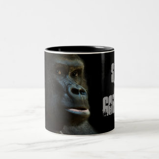 Save The Gorillas Two-Tone Coffee Mug