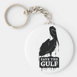 Save the Gulf Basic Round Button Key Ring
