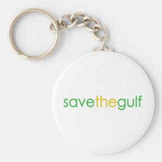 save the gulf basic round button key ring