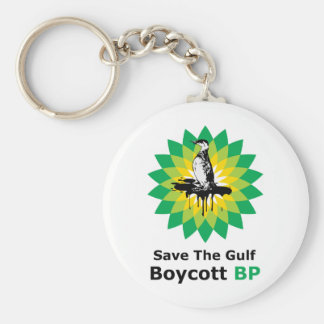 Save The Gulf Boycott BP Basic Round Button Key Ring