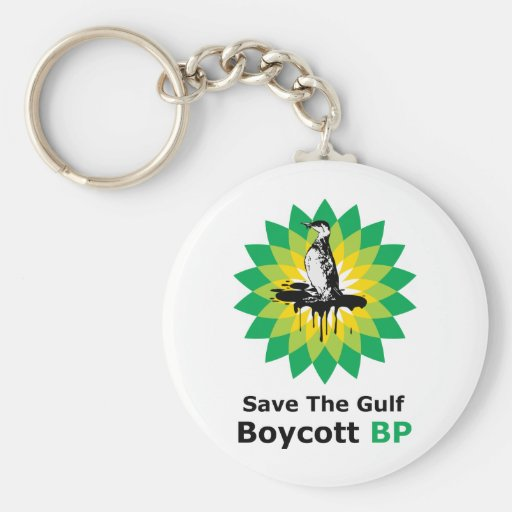 Save The Gulf Boycott BP Keychain