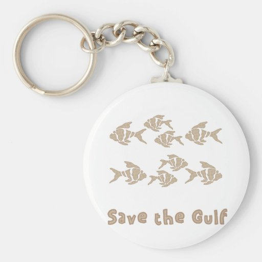Save The Gulf - Brown School of Fish Key Chains